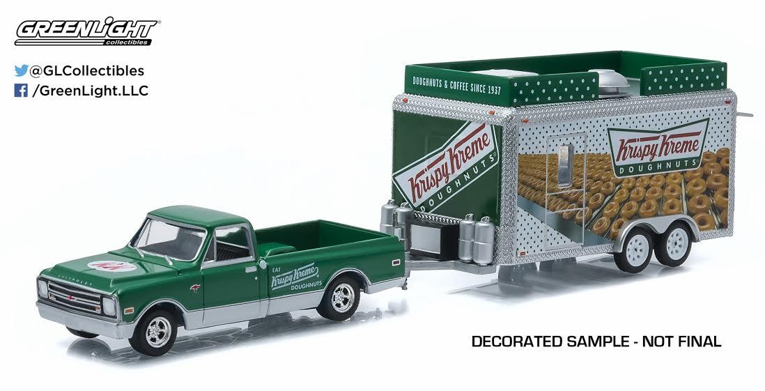 1968 CHEVROLET C-10 /& KRISPY KREAM TRAILER HITCH /& TOW 4 1//64 GREENLIGHT 32040 B by Greenlight