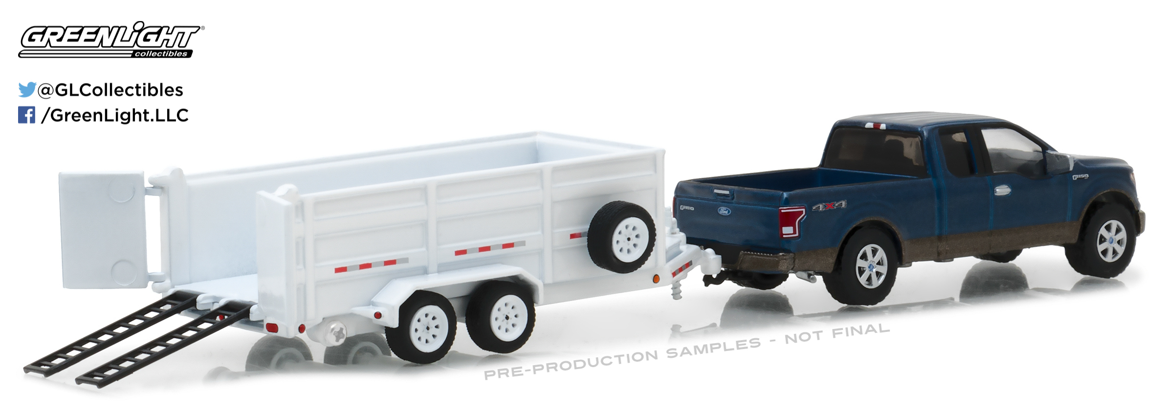 Pre Order 32120 C Greenlight Collectibles Hitch Tow Series 12 2016 Ford F 150 And Double Axle Dump Trailer on toy truck with dump trailer